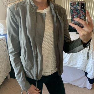 Free People faux suede/leather jacket